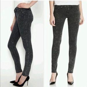 Rag & Bone black Legging Rosebowl Acid Wash Jeans
